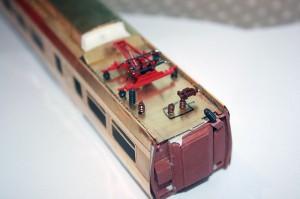 Prøvemontering av takdetaljer på motorvogn BFM 70