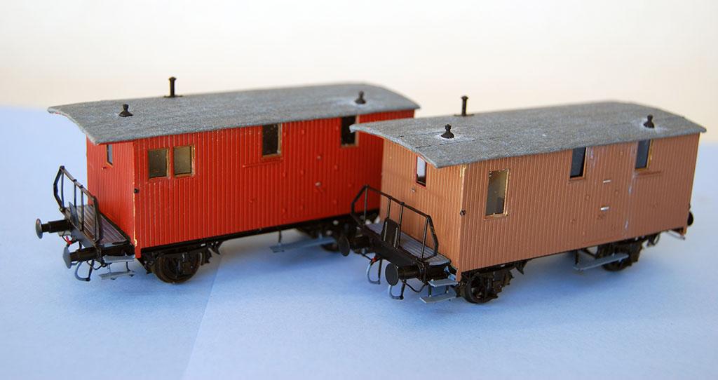 2-akslede konduktørvogner for godstog